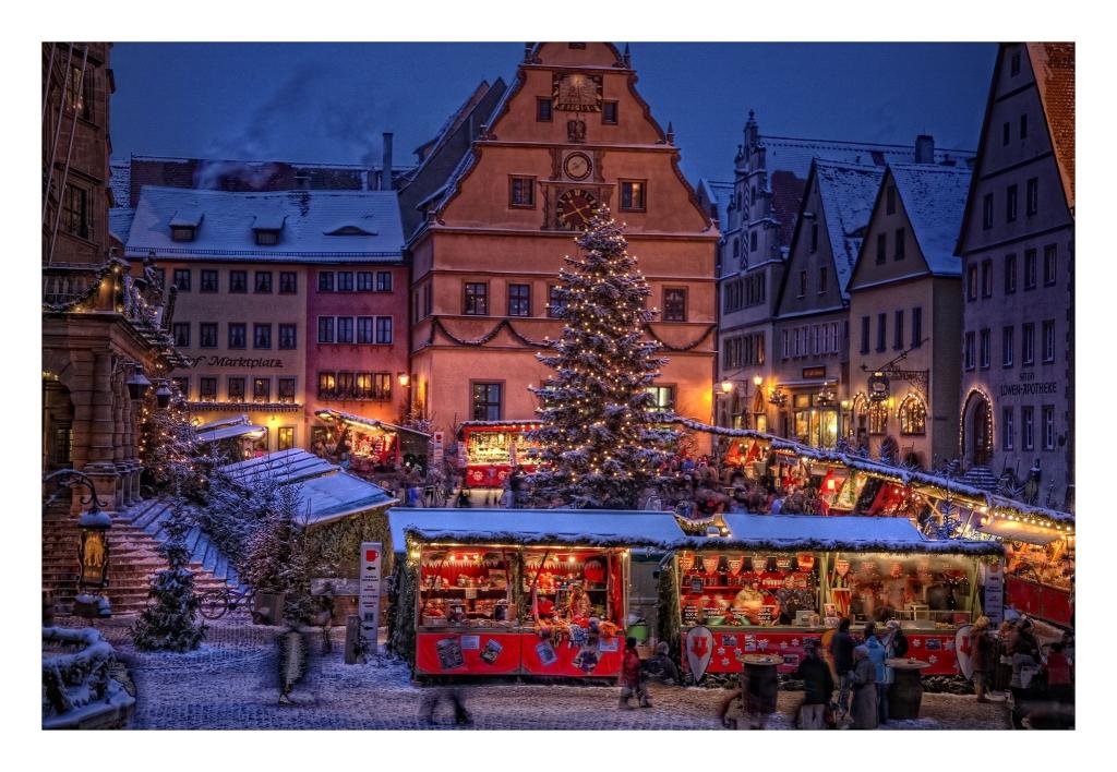 Weihnachtsstadt Rothenburg Ob Der Tauber Im Advent